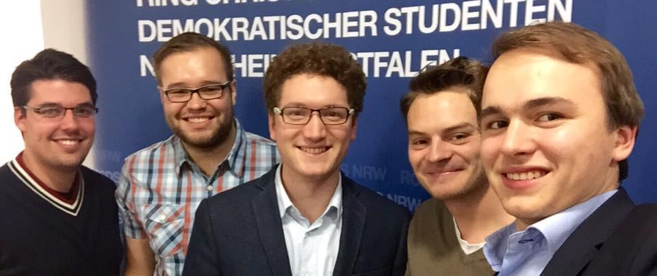 Liberale treffen Konservative. Mitglieder der Landesvorstände von LHG und RCDS.