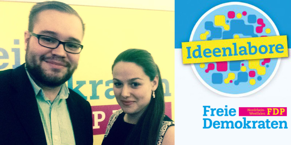 Praktiker im FDP-Ideenlabor: Simon Kell und Katharina Sprott bringen ihre Erfahrung ein.