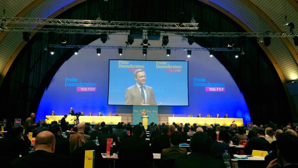 Christian Linder auf dem Parteitag der FDP NRW (foto: privat).